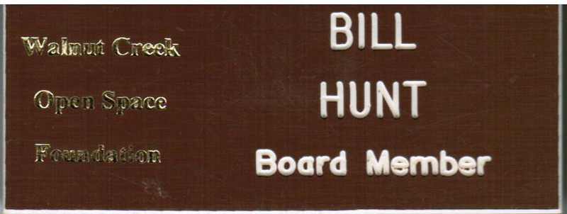 One of the WCOSF name badges we have used.  I used to have another one with a light background and an oak tree.