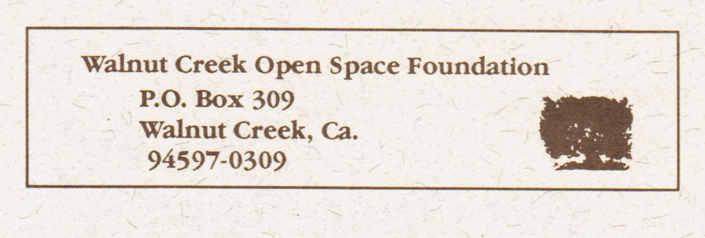 The corresponding return address on the back of the newsletter.