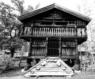 Old house at the Folk Museum, Bygdoy.