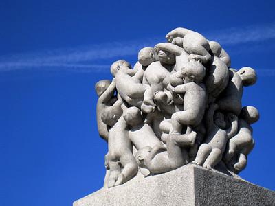 Sculpture at Vigelands Park.