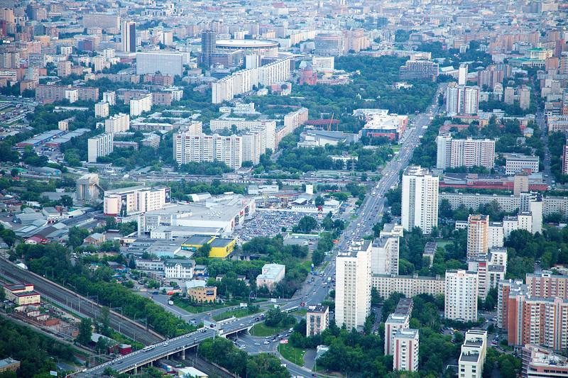 Шереметьевская ул., в центр<br /> СК Олимпийский (вверху)