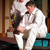 "Mark Maynard | for The Herald Bulletin<br /> The villainous Iago (Raymond Kester) plays upon Roderigo's (Martin Stapleton) unrequited love for Desdemona to achieve his evil purposes in William Shakespeare's ""Othello."""