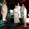 "Mark Maynard | for The Herald Bulletin<br /> Steve Sharkey, Lauren Schaffter, Tiffany Jackson, Raymond Kester and Andy Persinger portray Montano, Desdemona, Emilia, Iago and Cassio in the Alley Theatre's production of ""Othello."""