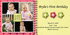 pink and yellow 4 square photo card 4x8