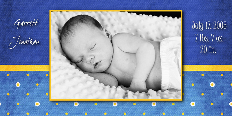 blue with yellow dots 4x8 card