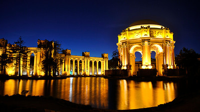 Palace of Fine Arts at dusk!