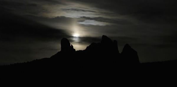 Moonrise over Sedona.