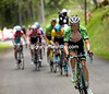 Wilco Kelderman makes an attack after the Contador-Froome move fails...
