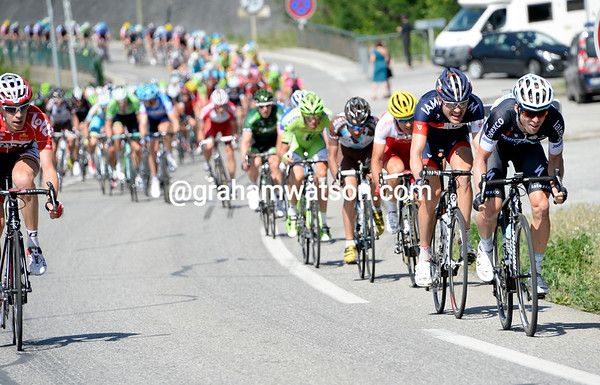After a pause to regroup, the peloton goes ballistic again, with Jan Bakelandts leading an attack..