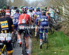 There's been a mass pile-up on the narrow lanes before the Eikenberg...