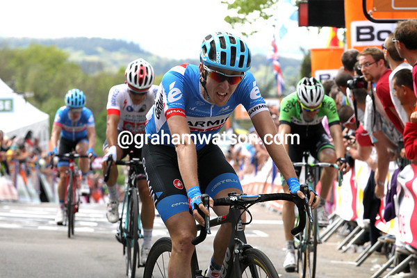 Dan Martin has taken second-place ahead of Michel Kwiatkowski...