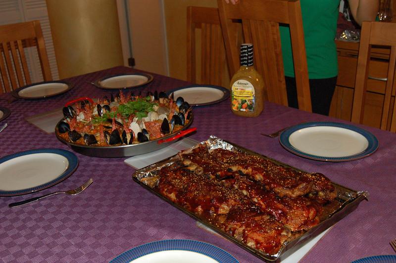 ribs and paella!