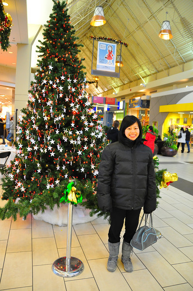 Sharon on Boxing day at Coquitlam Centre