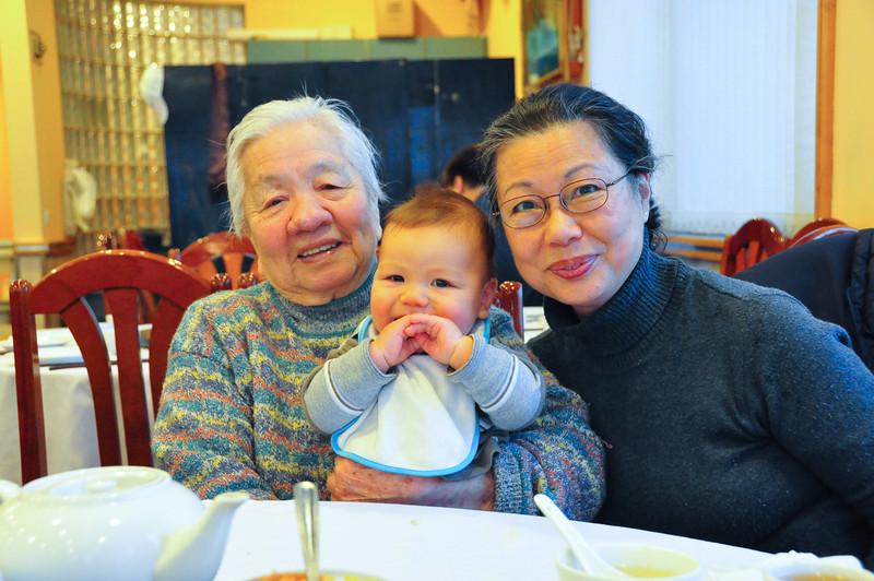 Great Grandma and Grandma and TJ