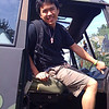 Me in an army truck at the PNE
