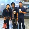 Us at the mall.  Hi mom!