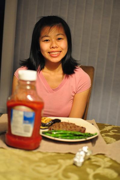 Sharon Eating Dinner