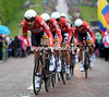 "Lotto-Belisol took third to last - without crashing - and lost 1' 34""..."