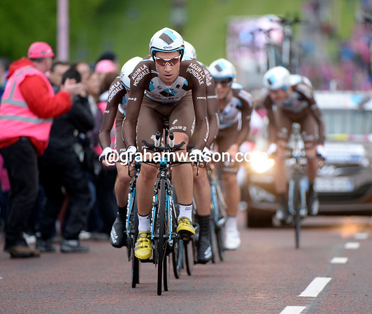 Patrick Gretsh helped Ag2R to 10th-place, 58-seconds down...