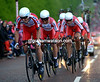 "Katusha looked strong and together, but they finished in 19th place at 1' 33""..."