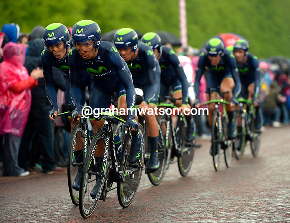 Nairo Quintana led Movistar by example, and they took 8th at 55-seconds because of it...