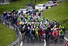 The peloton is still compact after five-kilometres of climbing...how long will this peace last?