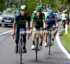 Hesjedal follows Rolland and Quintana - they've caught and dropped Cataldo and lead the Maglia Rosa group by almost three-minutes on the last climb...