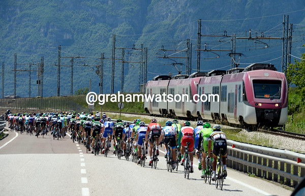 There's a brief race with a train on the way to Trento - the train only just won..!