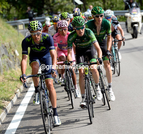 Movistar now have Europcar chasing with them, the fireworks will begin soon..!