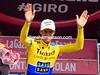 Michael Rogers celebrates winning the stage to Monte Zoncolan - what a race he's had..!