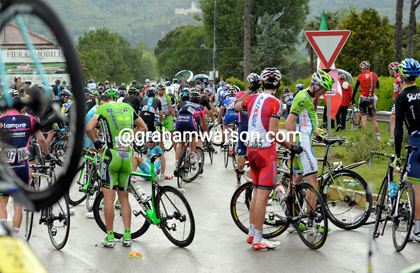 Half the peloton has been involved, but some luckier ones have missed the crash altogether..