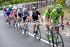 Cannondale stretch out the peloton as they begin to chase harder...