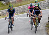 Jesus Herrada and Robinson Chalapud lead a four-man escape towards the top of the climb...
