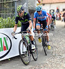 Alejandro Valverde chases hard with Dan Martin on his cherished wheel...
