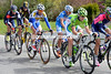 Michel Koch leads the 'morning escape' away after just 20-kilometres...