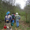 Starting the hike to the caves.  We took the 'long way' because of brambles that have grown in a clear-cut area on the old path.  A true example of a 'briar patch' that Brer Rabbit would be right at home in, but would have cut us up.