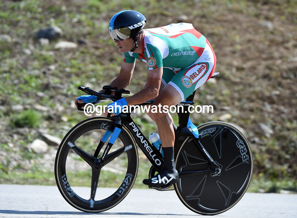Vasil Kiryienka took a great 4th-place for Belorus, he was 47.52 seconds down...