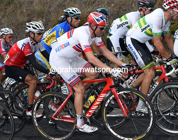 Alexander Kristoff is also a big favourite, but Norway's team car has crashed and all the spare bikes have been destroyed..!