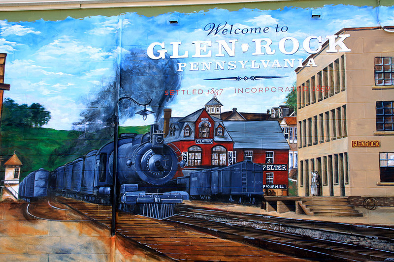 Mural painted in 2010-Glen Rock,PA