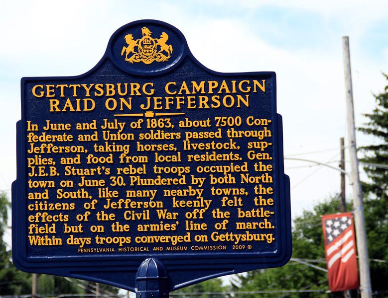 Jefferson PA Civil War marker