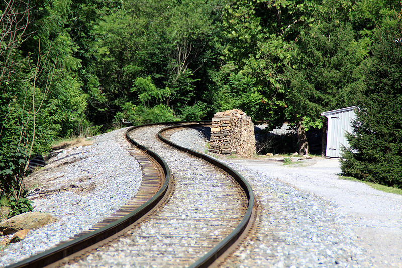S curve on the Old western MD line,at Brodbecks,PA. The line is now operated by CSX.