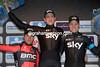 Ian Stannard celebrates his best-ever win with Greg Van Avermaet and Edvald Boason-Hagen..!