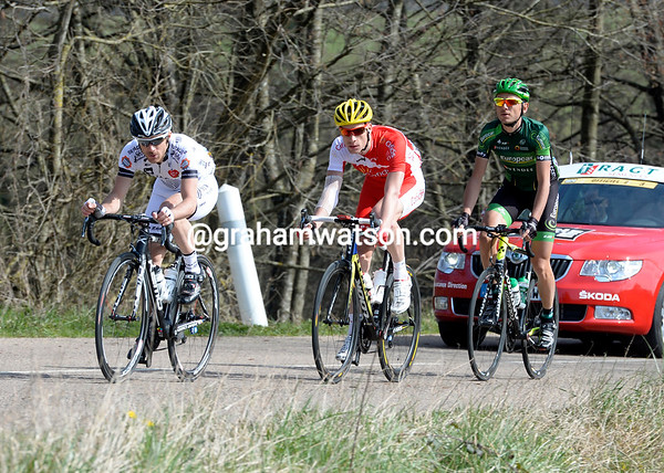 Romain Feillu leads the escape, but their lead is less than three minutes against a chasing peloton...