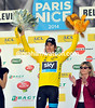 Geraint Thomas has become the new race-leader from Degenkolb, but not by much..!