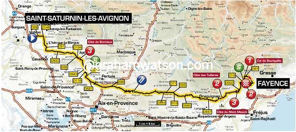 Paris-Nice Stage 6:  Saint-Saturnin-lès-Avignon > Fayence, 221.5 km