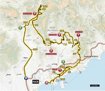 Paris-Nice Stage 8:  Nice > Nice, 128 km