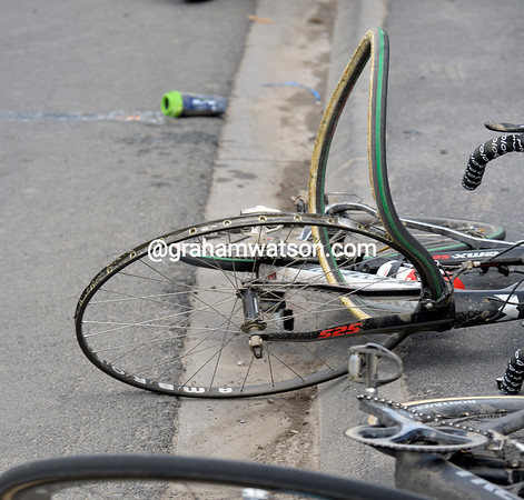 A Topsport rider won't be using this bike again today..!
