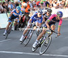 The only real escape of the night is led by Lampre's Luca Wackermann...