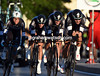 Tom Boonen led Omega-Pharma to 5th place, eleven-seconds down...