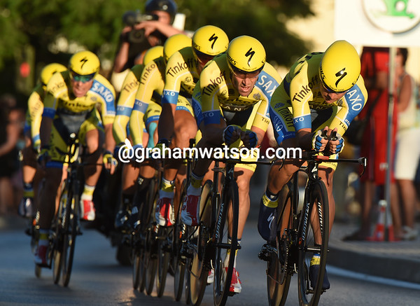 Tinkoff-Saxo took 7th, 19-seconds down...